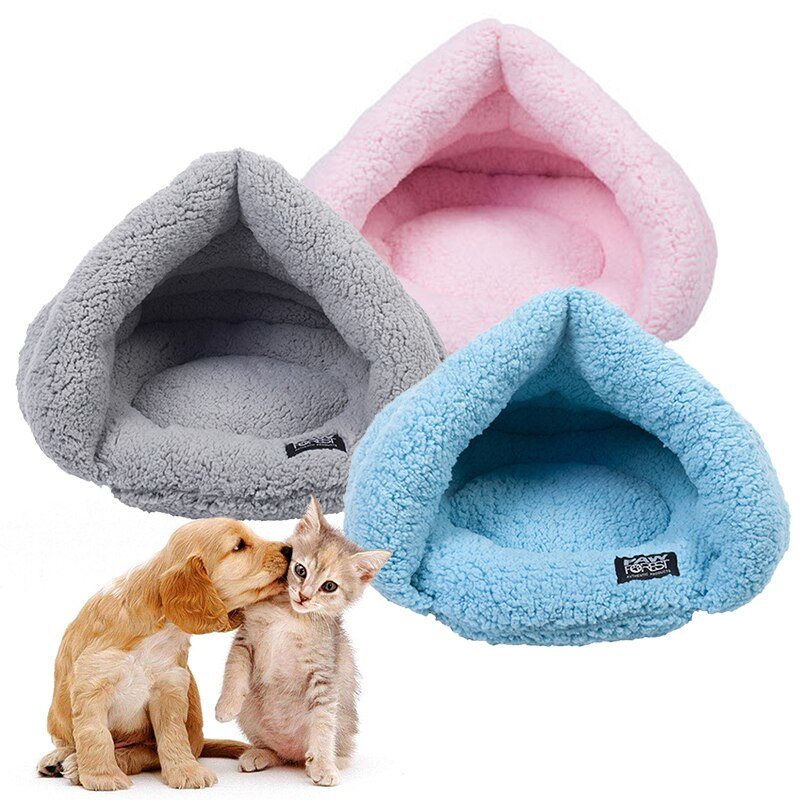Cute Soft Warm Pet Cat Puppy Dog Cage Cave Beds Cat Sleeping Nest Pad Dog Mattress Kitten House Cushion Pet Supplies Accessories